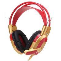 Fone de ouvido - Este vermelho - cabeça jogo de fone de ouvido estéreo estilo V6s escudo