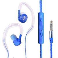 Fone de ouvido - Fones de ouvido com MATE - microfone headset fones de ouvido fone de ouvido fio orelha pode ser pendurado azul