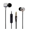 Fone de ouvido - HUAST prata metálico fones de ouvido fone de ouvido fio