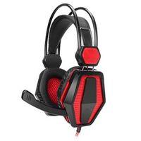 Fone de ouvido - ITCEO P536 - cabeça estilo de jogo de computador headphone headset sem brilho vermelho escuro