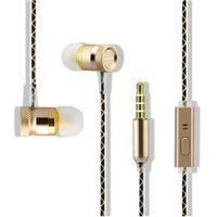 Fone de ouvido - KOONIU fones de ouvido com um microfone headset metal microfone