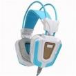Fone de ouvido - Lobo Bauwens NO8000 singlet sacudida azul branco cabo adaptador de fone de ouvido notebook