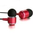 Fone de ouvido - MK100 fio MYKIMO fones de ouvido vermelho -