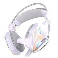 Fone de ouvido - Porque Zhuo headset com microfone de ouro branco