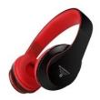 Fone de ouvido - Preto e vermelho com cabo de som Intone Bluetooth telefone celular headset montado cabeça -