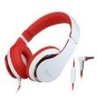 Fone de ouvido - Senmai SMIP174I fone de ouvido com microfone som mágico branco vermelho