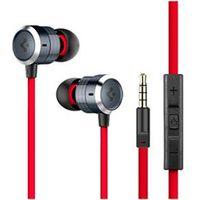 Fone de ouvido - Spigen PEC de metal de fone de ouvido baixo vermelho preto