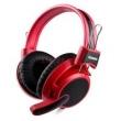 Fone de ouvido - vermelho kanen caneng A66 fone de ouvido com fio de fone de ouvido do computador montado cabeça -