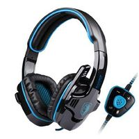 Fone Headsets - red headset gaming headset luminoso azul escuro 901