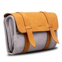 Porta fone de ouvido - versão de couro cinza simples - saco dpark Digital Storage cinza minimalista versão de couro