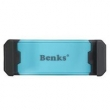 Suporte de celular veicular - Benks estrondo Keshi suporte giratório Telefone do carro claro e azul água