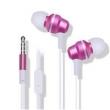 Fone de ouvido - Belo som de fio de fone de ouvido estéreo de ouvido com HTC HD3 D616W D826W rosas vermelhas