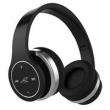 Fone de ouvido - Clique em Som sensores de toque iGene vestindo um preto fone de ouvido Bluetooth torneira