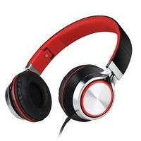Fone de ouvido - soundintone Headset preto vermelho