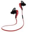 Fone de ouvido - Vermelho headset Qiqi S800 Bluetooth e preto