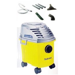Aspirador De Pó Tekna Compact 10 9,5l Amarelo E Cinza - 127v