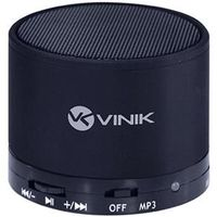 Caixa de Som 3W Music Box Bluetooth / FM / Micro SD Preta - Vinik