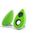 Caixa de som sem fio - DRACO M3 áudio notebook de desktop mini - usb falante estéreo verde baixo branco