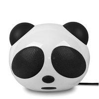 Caixa de som sem fio - Le USB20 legal panda dos desenhos animados mini - falante estéreo viva - voz externo preto