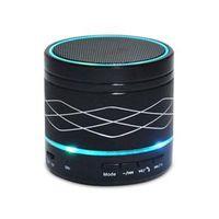 Caixa de som sem fio - Michelle XSEN alto - falantes Bluetooth orador placa de som sem fio de metal mini - preto esportes ao ar