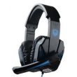 Fone de ouvido - Le Tong Gaming Headset Laptop Desktop PC fone de ouvido no livro negro