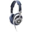 Fone de Ouvido Master & Dynamic MH40 - Revestido em Couro Legítimo ( Azul / Prata )