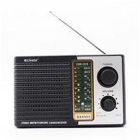 Radio Portátil Retrô com 5 Bandas Fm Sw E Tv Livstar Com Entrada Para Fone de Ouvido Pilhas