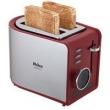 Torradeira Philco Easy Toast - Aço Escovado / Vermelha 110V