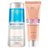 Kit BB Cream L`oréal Paris - BB Cream 5 em 1 + Demaquilante Bifásico Clara