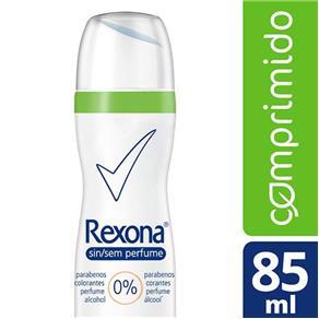 Desodorante Antitranspirante Rexona Sem Perfume Women Aerosol Comprimido