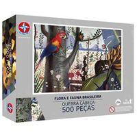 Puzzle Estrela Cândido Portinari Flora e Fauna Brasileira - 500 Peças