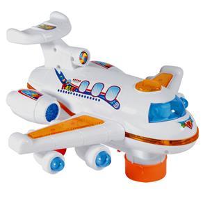 Avião CKS Toys Bate e Volta - Branco / Laranja
