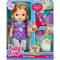 Baby Alive Boneca Bons Sonhos Loira - Hasbro