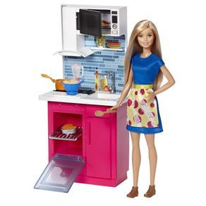 Barbie - Móvel com Boneca - Cozinha Dvx54