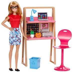 Barbie Real Escritório Com Boneca - Mattel