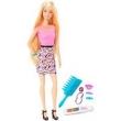 Boneca Barbie Cabelo de Arco - Íris - D.I.Y, Luzes Coloridas - Mattel FFK05