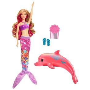 Boneca Barbie Filme Barbie e Os Golfinhos Mágicos - Sereia Transformação Mágica Fmp58