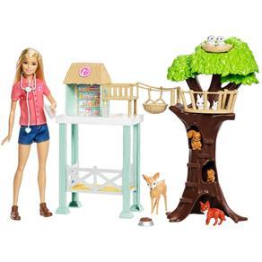 Boneca Barbie Profissões - Cuidadora de Bichinhos Fcp78