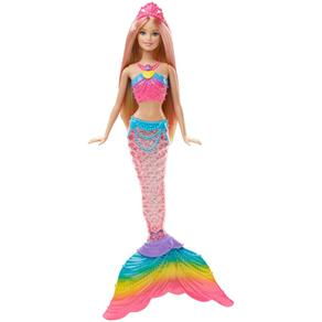 Boneca Barbie - Sereia Luzes Arco - Íris - Mattel