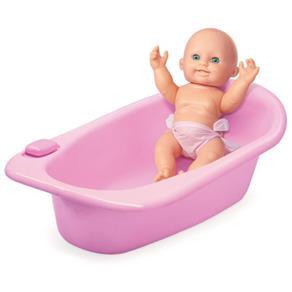 Boneca Meu Primeiro Banho C / Acessórios - Homeplay
