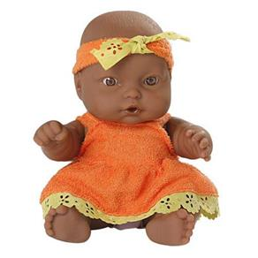 Boneca Nenequinha P Vestido Laranja - Super Toys