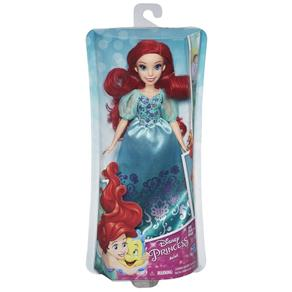 Boneca Princesas Classica Ariel Vestido Brilhante - B5285 - Hasbro