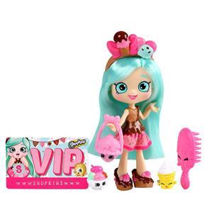 Boneca Shoppies Peppa Mint DTC Acessórios + 2 Shopkins Exclusivos