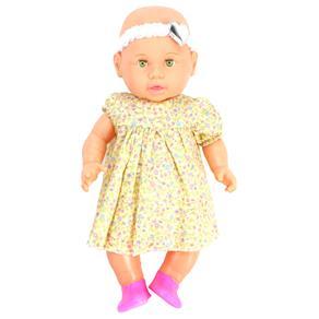 Boneca Xplast Baby Carinho - Vestido Amarelo Florido