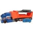 Caminhão batida com veiculos laranja HOT WHEELS Mattel