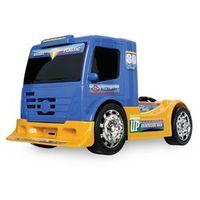 Caminhao Truck Adventure Fricção - Usual Plastic - 105 Cabine Azul Chassi Amarelo
