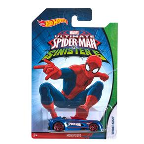 Carrinho Hot Wheels Marvel Ultimate SpiderMan Vs Sinister Six Spiderman Monoposto Mattel
