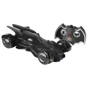 Carro de Controle Remoto Batmóvel Batman vs Superman com 7 Funções - Preto