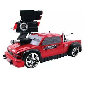Carro de Controle Remoto Candide Battle Machines com 7 Funções - Red Chevy Doodley
