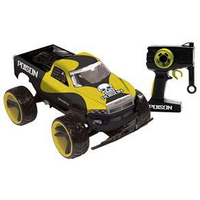 Carro de Controle Remoto Candide Poison com 7 Funções - Amarelo / Preto